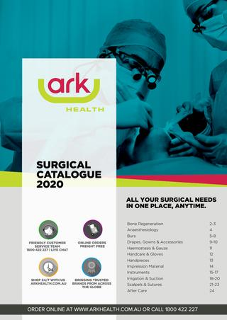 Ark Health Surgical Catalogue 2020