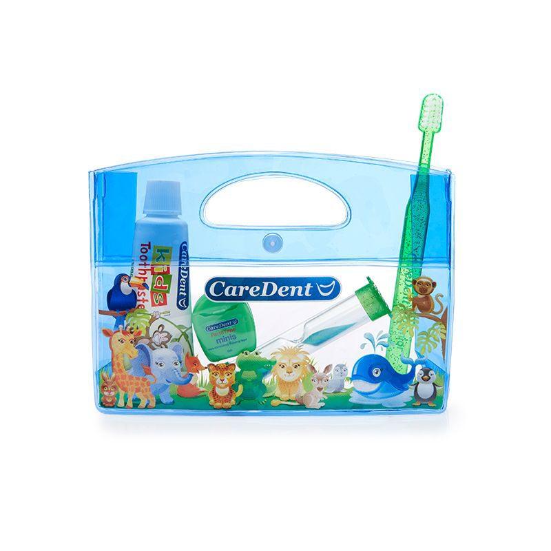 CareDent Oral Care Kids Kit Animal Pack Blue