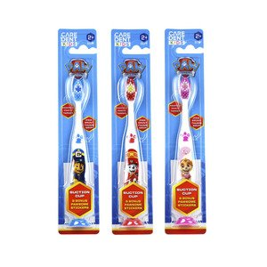 Caredent Paw Patrol Soft Toothbrush With Suction Cup