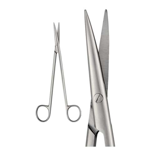 Ongard Lite-Touch Scissors DE Bakey Curved #18cm