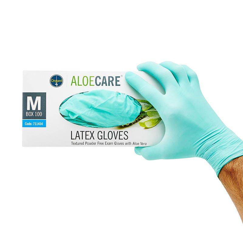 Ongard Aloecare Latex Gloves