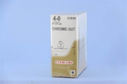 Ethicon (G181H) Sutures Chromic Gut 4/0 22mm 1/2 SH1 70CM
