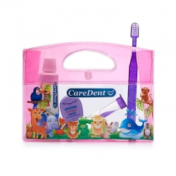 CareDent Oral Care Kids Kit Animal Pack Pink - Click for more info