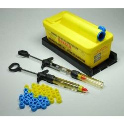 Astek inSafe Needle Adapter- Metric Thread (Blue) (250)