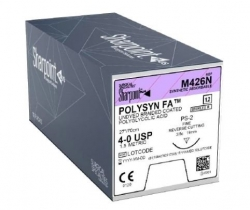 Sharpoint Sutures PolySyn FA 4-0 3/8 19mm 70cm Fast Absorbable