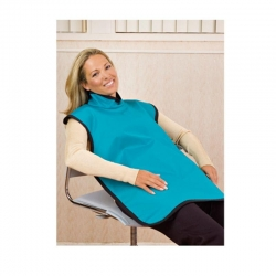 Flow X-Ray Apron Safe 'n Sure Lead With Thyroid Collar Electric Blue - Click for more info