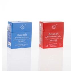 Bausch Articulating Paper w/Dispenser box Red 200u BK 02
