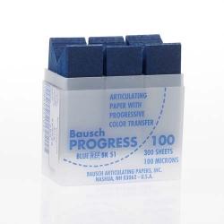 Bausch Articulating Paper Horseshoe Shape Blue 100u BK 53
