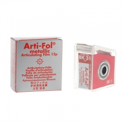 Bausch Arti-Fol Metallic w/Dispenser 1/S 22 mm Red 12u BK31