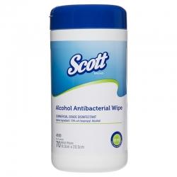 Scott Alcohol Antibacterial Wipes (70 wipes/dispenser)