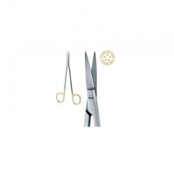 Ongard Lite-Touch Scissors Kelly Curved TC #16cm