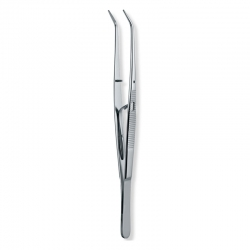 Ongard Lite-Touch Tweezers  Self-Locking Serrated College #15cm