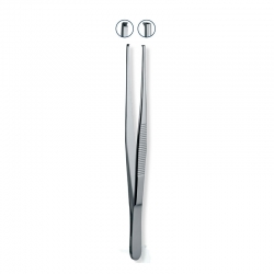 Ongard Lite-Touch Tweezers Rat Tooth Straight #14cm
