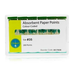 Ongard Paper Points Colour Coded 0.4 Taper